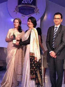 Best Principal award to Ms Manjeet Madra in Punjab Region.